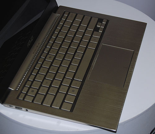 A chiclet style keyboard that's the rage among many notebook manufacturers. But those metal keys look so cold and metallic.