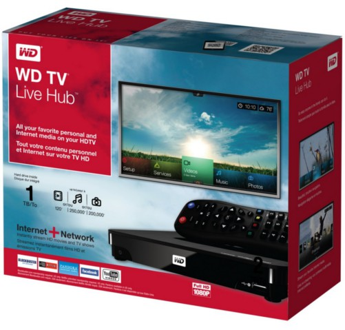 Boasting a 1TB internal hard disk, the WD TV Live Hub sports impressive specs as a whole.