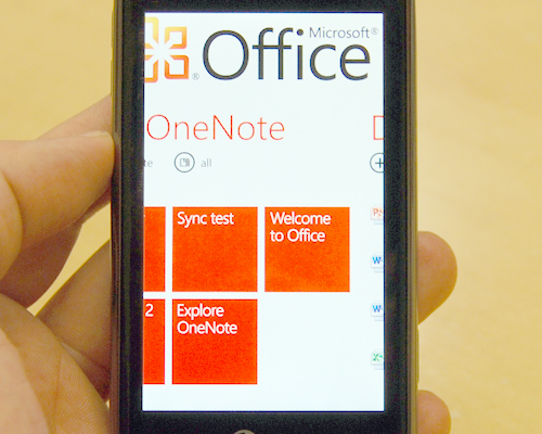 Cloud services will be a core focus for Windows Phone 7, such as over-the-air synchronization for its documents.
