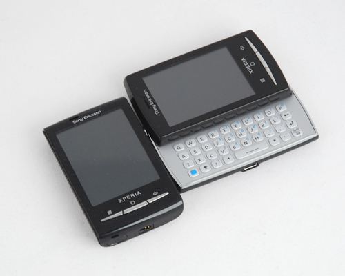 ...a slight push, and a petite QWERTY keyboard reveals itself under the X10 mini pro's 2.55-inch screen.