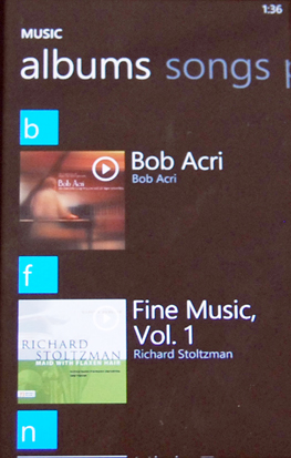 Categories make it easy to locate your multimedia files on Windows Phone 7.