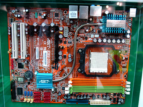 The ABIT KN9 Ultra is based on the NVIDIA nForce 570 MCP supporting AMD's Socket AM2 processors. It comes with six SATA 3G ports, two Gigabit Ethernet LAN ports, two IEEE 1394 ports and 7.1-channel HD audio.