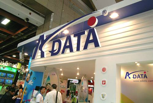 A-Data attracting in the crowd with a cartoon theme, but there's nothing funny about their memory displays.