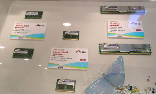 A-Data also had a range of other memory technologies on display such as DDR2 FB-DIMM, SO-DIMM and Micro DIMM modules.