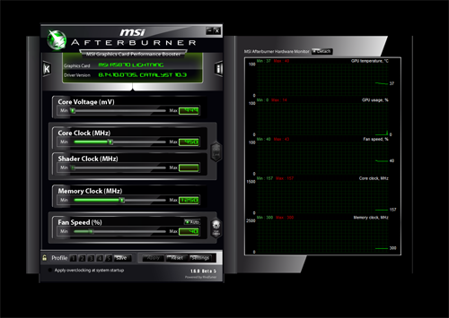 Developed in collaboration with RivaTuner, the MSI Afterburner is one of the cleanest and easiest to use overclocking utilities available today.
