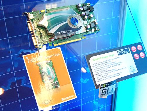 The 7900 GT Super High as its name implies is a pre-overclocked board for the enthusiast market. Albatron has the GeForce 7900 GT clocked at 550MHz. This is the 256MB version and it kind of looks similar to another vendor's overclocked version, doesn't it?