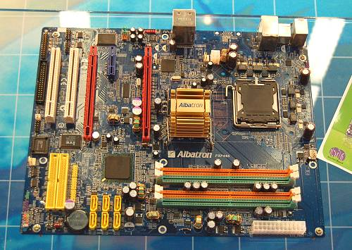 The Albatron PX965 is one of the new Intel Broadwater motherboards that have been emerging this Computex. It has a clean layout optimizes for dual graphics setups.