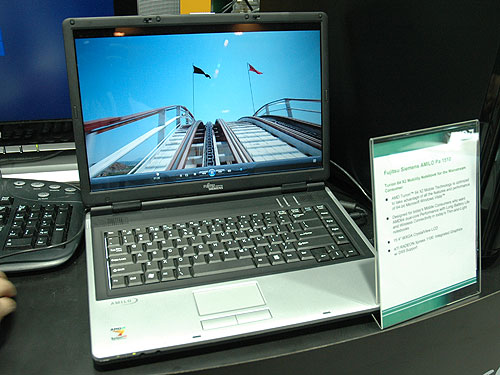 The Fujitsu Siemens AMILO Pa 1510 is based on AMD's latest Turion 64 X2 mobile processor. Fujitsu is one of the Tier-1 brand that offers notebooks with AMD's mobile processors.