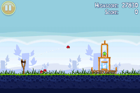 The experience of playing Angry Birds on the HTC ChaCha is the same as other  smartphones albeit on a much smaller screen.
