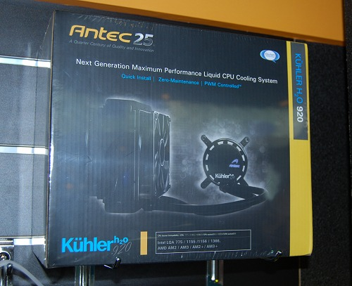 Antec's high-end liquid cooling system comes with a cooler fan at the radiator. Compatible with all current AMD and Intel processors.