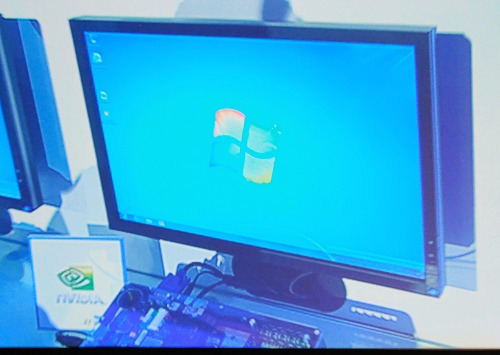 And perhaps the star of the show was the NVIDIA Tegra 2 based test unit running a Windows 7...