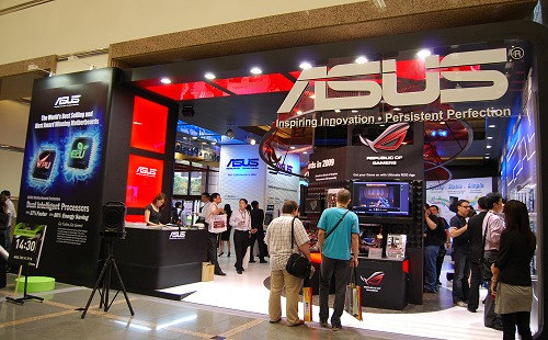 ASUS had so much to show, it was almost a tech geek's heaven at the first floor of the Taiwan International Convention Center (TICC) building. Let's kick things off with the motherboards department.