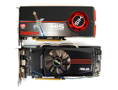 The ASUS EAH5850 DirectCU TOP is slightly larger than a reference Radeon HD 5850 and makes use of a large fan and heatsink combo cooler to keep things cool.