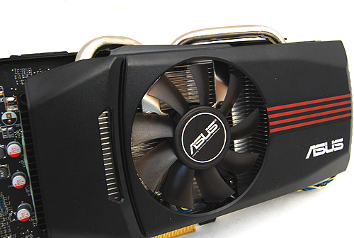 The ASUS DirectCU cooler is unique because its heat pipes are flattened so as to make direct contact with the GPU core for faster heat dissipation.