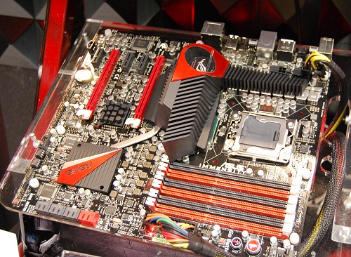 Meet the ASUS ROG motherboard named Immensity! Based on the Intel X58 chipset, this board featured the Lucid Hydra chip and an onboard discrete ATI GPU underneath those immense heatsinks.