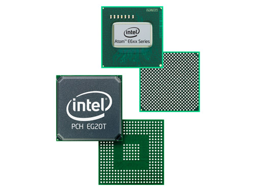 "The new Intel Atom E600 SoC processor (formerly codenamed ""Tunnel Creek"") with the Intel Platform Controller Hub (PCH) EG20T targeted at the embedded market segment."