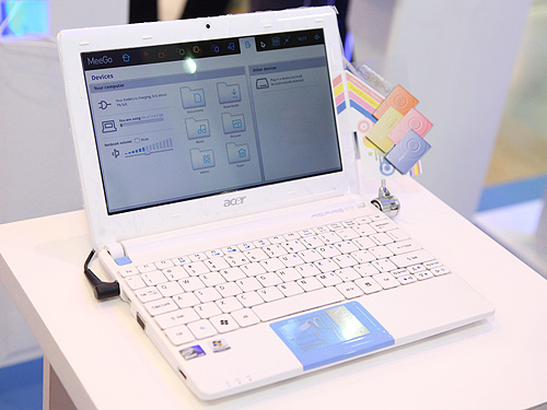 Acer's latest Aspire One Happy 2 is based on the latest Atom N435 processor. This fashion netbook comes with various hues of color.