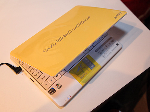 Here's another look at the brightly colored cover design of the Acer Aspire One Happy 2.
