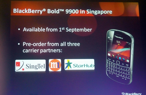 For those who fell in love with the BlackBerry Bold at first sight (we admit we do), preorder starts today from all three telcos and will be available in stores on 1st September.