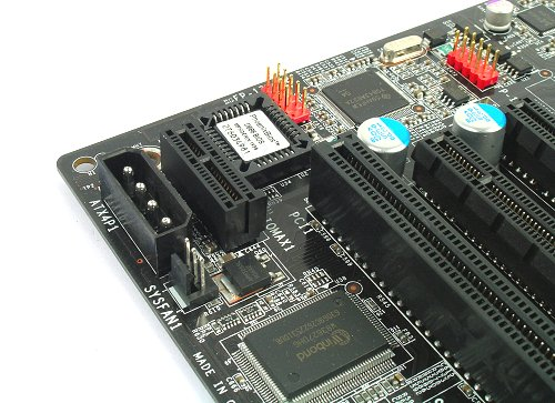 Proprietary slot for the AudioMAX riser card undobtedly takes over one expansion slot.
