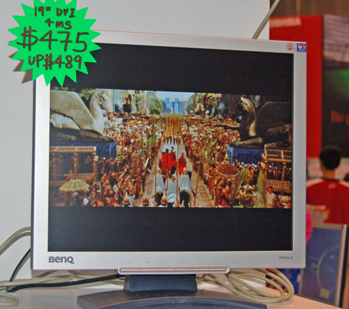 This 19-inch BenQ monitor with 4ms response time is on offer for S$475 at the PC Show only.