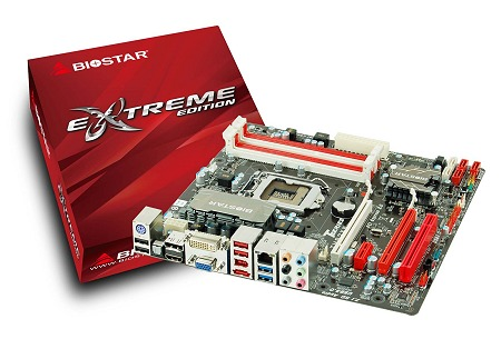 Here's the compact mATX Intel H67 based motherboard from Biostar, the TH67XE.