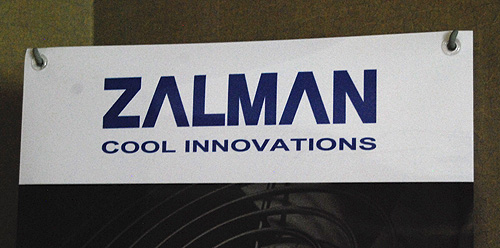 Besides your usual CPU and VGA coolers, Zalman also had a 3D display to show us.