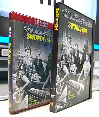 For this segment of comparing HD DVD quality with that of a standard DVD, we chose the movie Swordfish for this purpose.