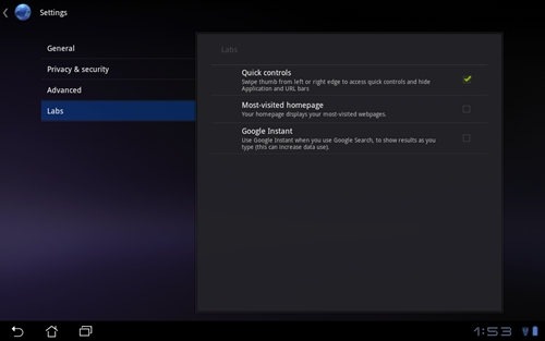 You can turn the Quick Controls feature on or off via Settings>Labs