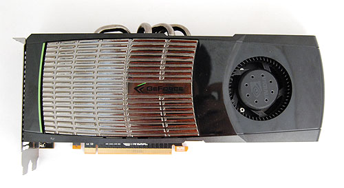 Small the GeForce GTX 480 ain't, and it looks very different from reference NVIDIA cards of old thanks to the new cooler design.