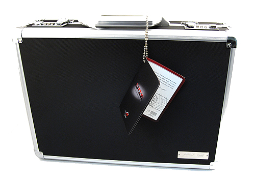 As befits a special card, the ASUS Ares comes in a special briefcase. Cool or trying too hard? You decide.