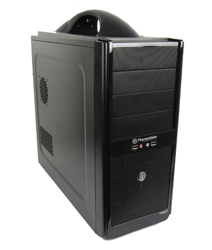 The Thermaltake WingRS 301 bares a striking resemblance to the earlier seen Cooler Master Centurion 5 II, with the exception of the carrying handle on the top panel.