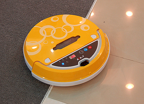Over at Agait's booth, we saw this funky automatic cleaner, which is programmable and even smart enough to return to its charging base when its low on battery.
