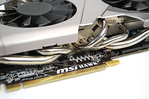 The Twin Frozr III cooler uses no less than five 8mm thick copper heat pipes to draw heat quickly away from the GPU core.