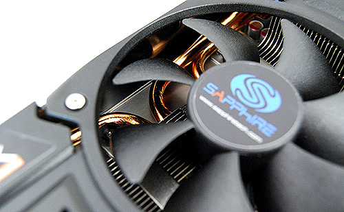 Concealed by the cooler cover are thick copper heat pipes that help draw heat away from the GPU core.