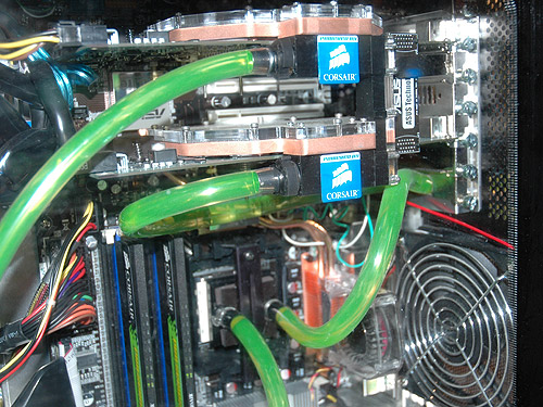 The Nautilus 500 also comes with VGA waterblocks for NVIDIA SLI systems.
