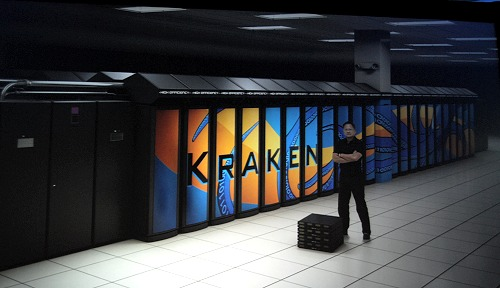 The Kraken is actually a monster machine cluster with a total of 99072 AMD Opteron-based CPU cores, but even so, tasking 192 of its quad-core processors and yet losing out to 8 GPUs is quite telling of the power of GPU computing.