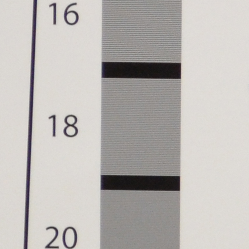 100% crop of our resolution chart test.