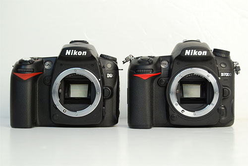 The Nikon D90 and the D7000 side by side. Notice how similar they look from the front?