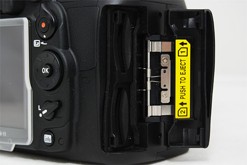 The dual SD card slots let you double your memory or back-up your images on the go.