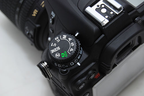 The other significant change from a D90 is the addition of a shooting mode dial below the mode dial.