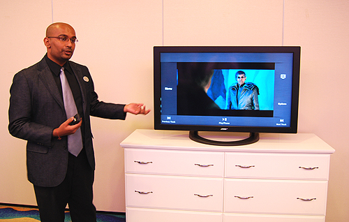After the demonstration, we were given a hands-on and Q&A session with the VideoWave entertainment system.
