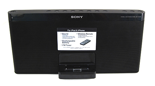 The sony RDP-XF100iP iPod/iPhone docking system prides itself on its portability and premium sound.