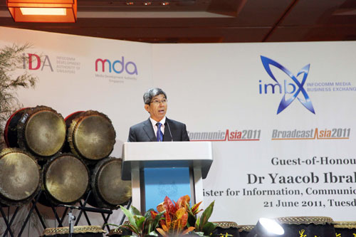 Apart from highlighting MDA's plan to install a trial DVB-T2 network by September this year, Dr Ibrahim also urged industry players to leverage on DVB-T2's coverage to test-drive new content, hardware and services. (Photo: Courtesy of MDA)