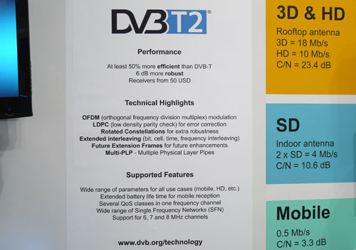 For those of you who aren't fazed by technical jargon, here's an overview of DVB-T2's advantage over its predecessor. The standard's MultiPLP feature is what enables it to deliver SD, HD and 3D streams on a single frequency.