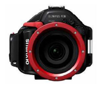 The PT-EP01 underwater case for the E-PL1 is the first underwater housing released for a Micro Four Thirds camera.