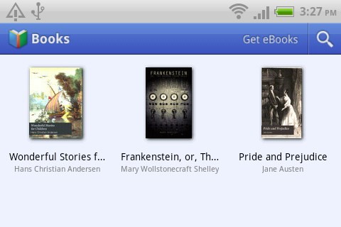 Take the Books app for example, The main screen of the Books app requires you to view it in landscape mode.