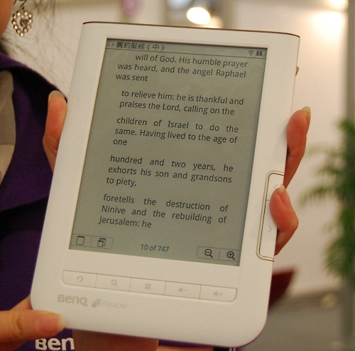 BenQ too has an E Ink based ebook reader. Its main attraction of the BenQ nReader is that it can connect directly to eBook Taiwan, a platform for delivering the ebooks to the reader.