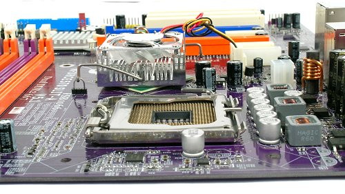 The board features a clean design with low profile components.