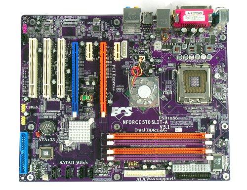 The ECS nFORCE 570 SLIT-A motherboard.